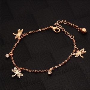 Jewelry - Gold Dainty & Charming DragonFly Anklet (H2)